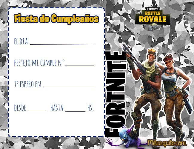 Pin De Graciela Amaya En Fortnite Invitaciones De