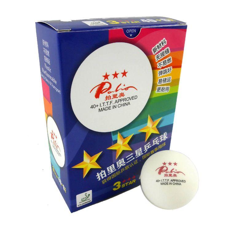 6x palio bahan mulus 40 + bintang 3 bintang baru 3 bintang tenis meja putih ping pong balls