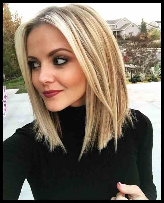 10 stilvolle & süße Lob Haircut Ideen, 2018 Schulter Länge Frisuren …