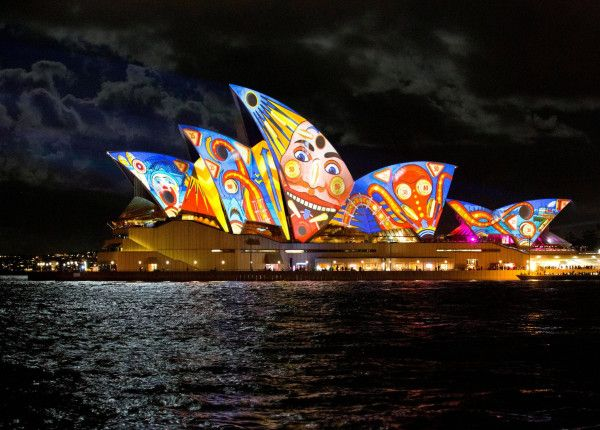 One of the many transformations of the Opera House. The Vivid light displays and sculptural walk will be on every night from 6pm to Midnight for the next 17 days!  #sydney #operahouse #sydneyoperahouse