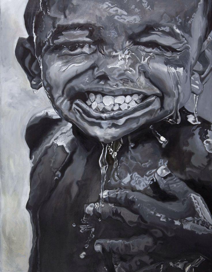 Finally rainseason! Tempera painting by Mona Lian, monalian.com