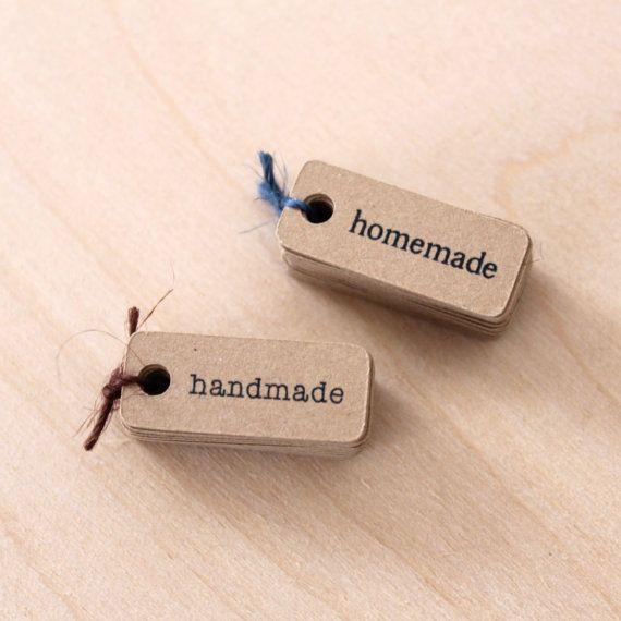 handmade kraft tags - nice package design + paper goods @ etsy