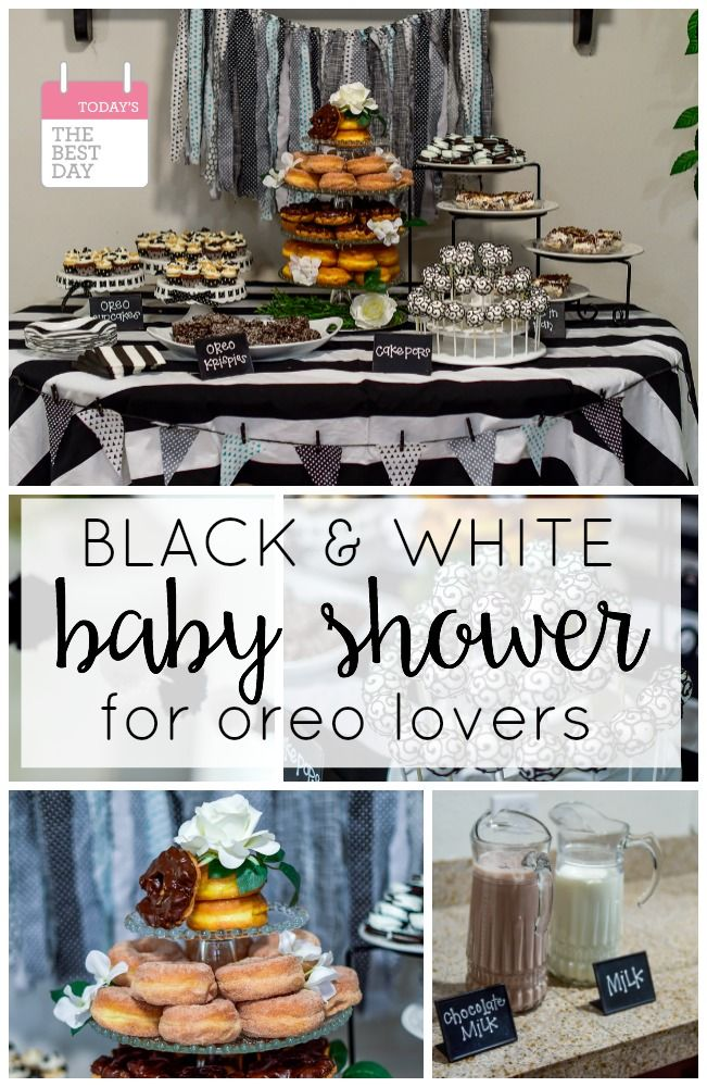 Black And White Baby Shower For The Oreo Lovers All Things Mom
