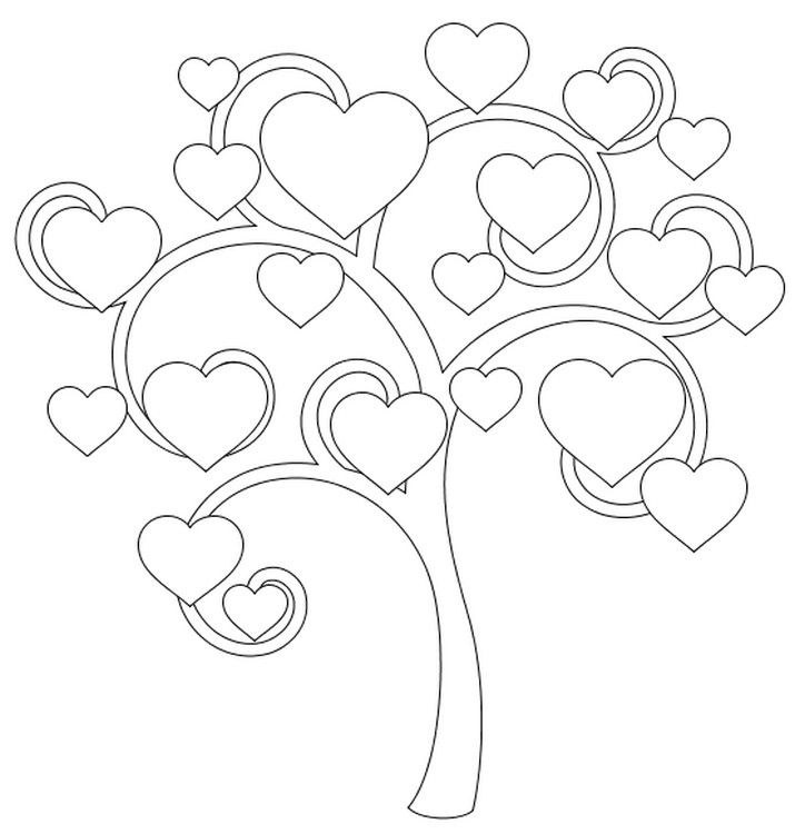 115 best iColor  - fresh coloring pages roses and hearts