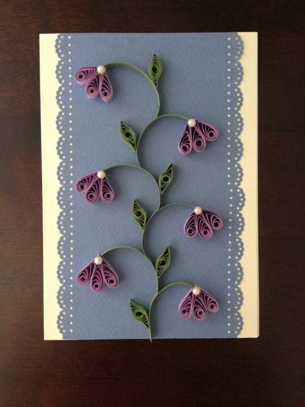 Quilling card More