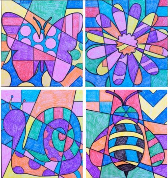 Spring Pop Art V 253 Tvarka Jaro Kresby Kola A Kreativn 237