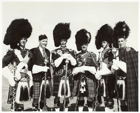 The band leaders at the Highland Games Campbell Town during the 1960s.