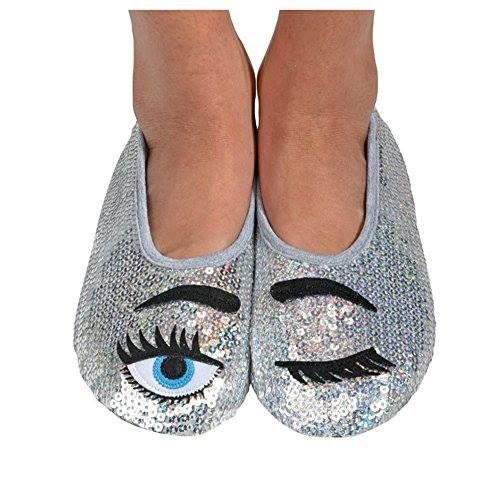 Eye candy bling slipper socks!  Shop the bling collection here: http://amzn.to/2lj9uVW