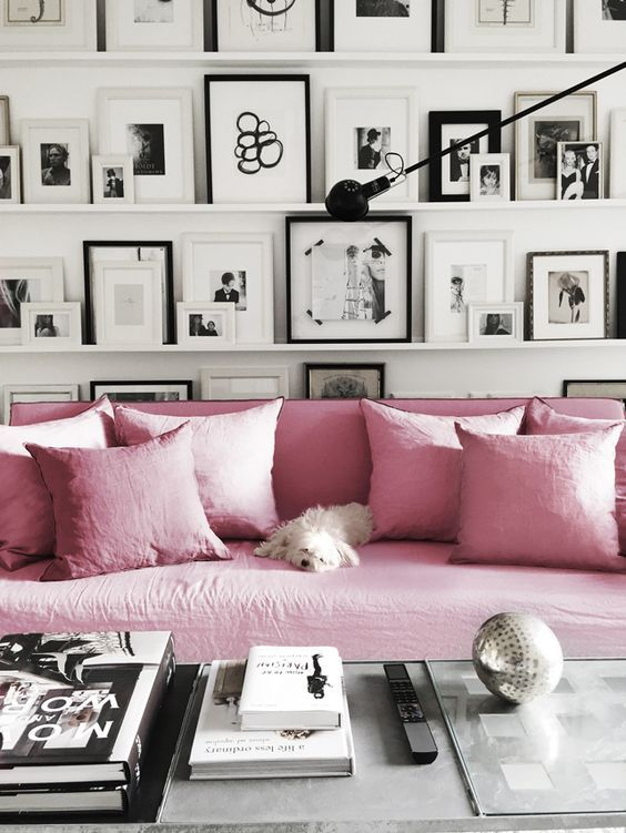 Our guide on how to style blush pink in the home. Order your free fabric samples to try them at home!