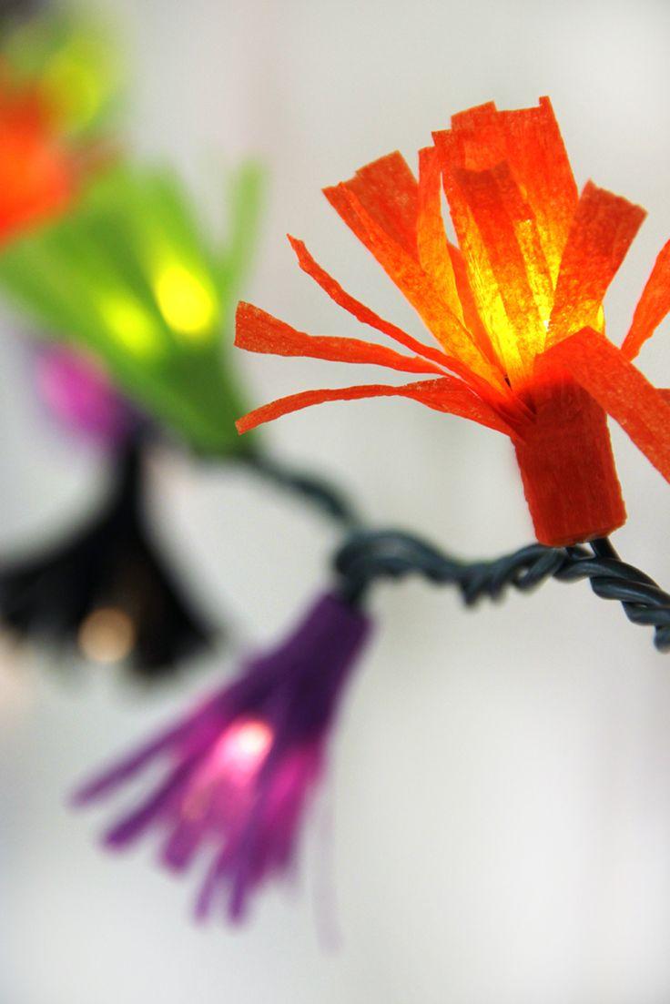 Diy flower string lights - 111 Best String Lights 3 Images On Pinterest Home Live And Bedrooms