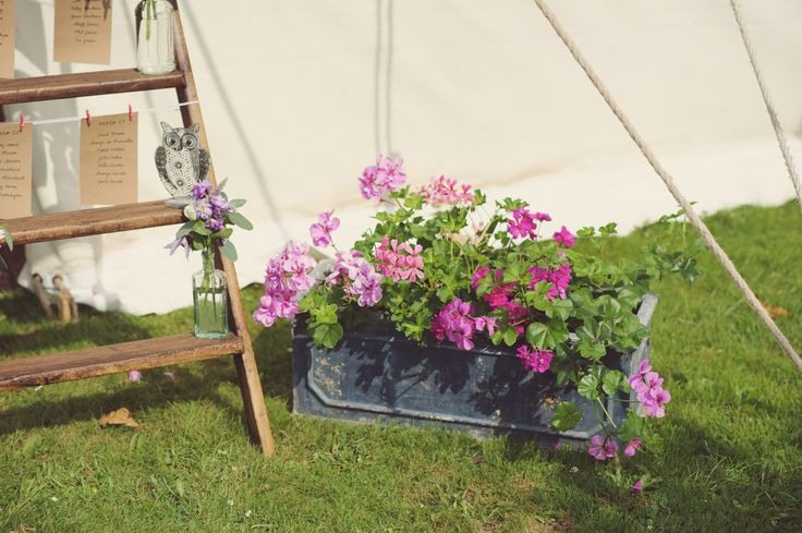 Pretty flowers outside one of our LPM Bohemia Traditional Canvas Pole Tents