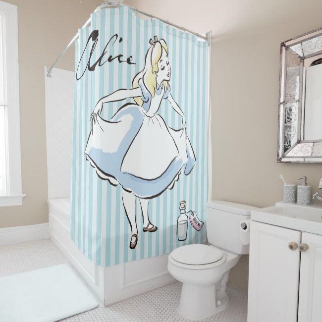 Alice In Wonderland This Way To Wonderland Shower Curtain