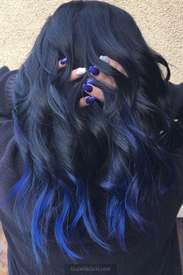 Gece Mavisi Sac Rengi 2020 Mavi Sac Renkleri Sac Rengi