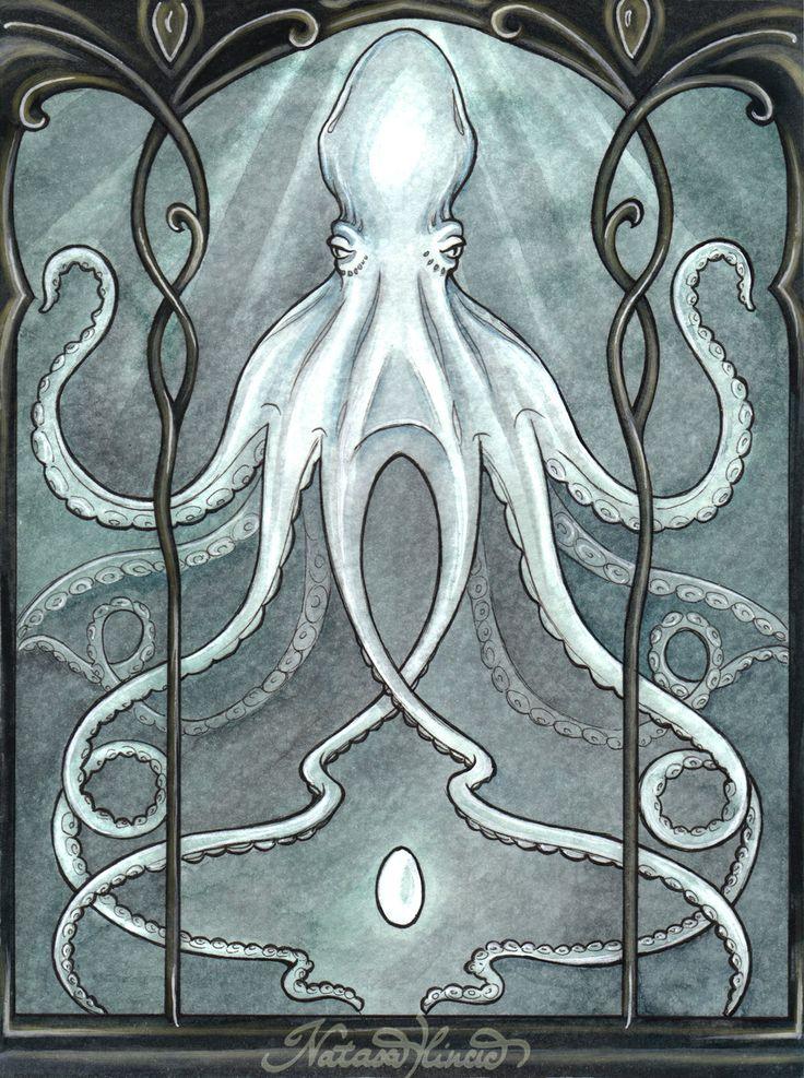 art nouveau octopus