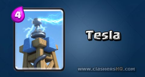 Find all about the Clash Royale Tesla Card. How to get Tesla & attack/counter Tesla effectively.