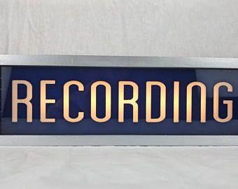 Lámpara inteligente - señal de advertencia de studio de grabación