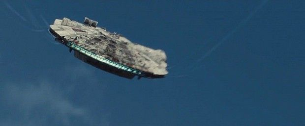 Star Wars 7 Trailer Photo Millienium Falcon Sky 1024x426 Star Wars 7 Trailer Analysis: A Closer Look At The Visuals & Story
