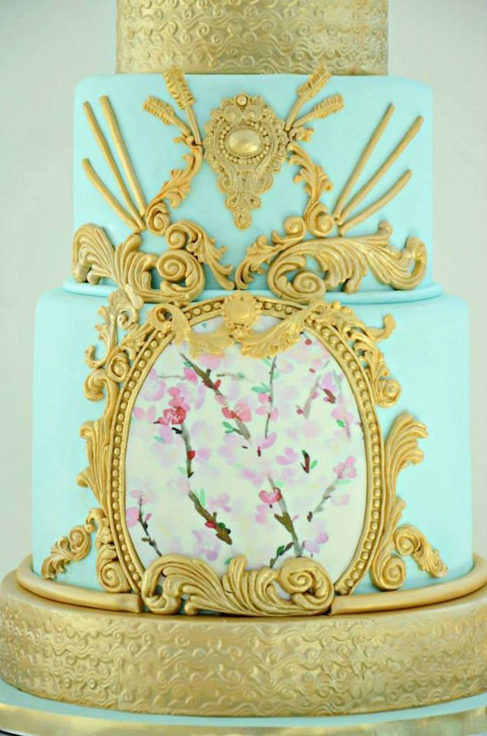 Cake at a Fairytale Princess Baby Shower on ...