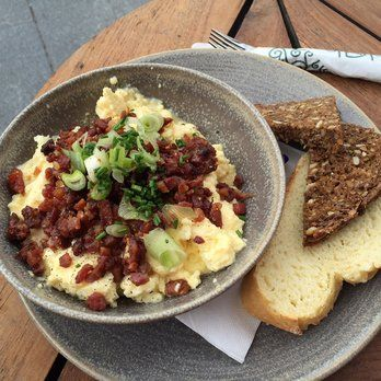 Scrambled eggs and bacon | Yelp