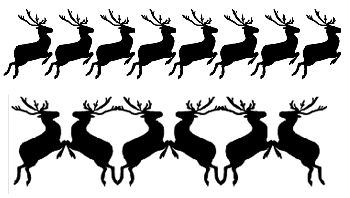 Free Reindeer Clipart For Crafts Milliandes Templates To Print From Flying Silhouettes Printable Cliipart