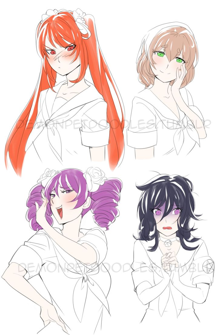 Yandere Simulator Rivals (WIP)–I REALLY wanted to draw all 10 today but i'm so tireeed,have a WIP for now!I love your Work YandereDev!