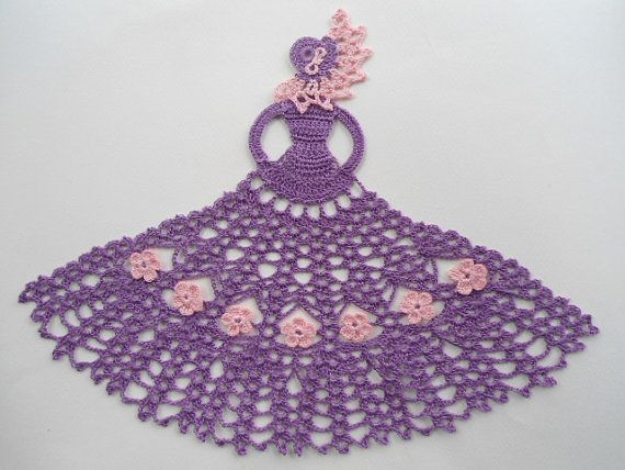 handmade crochet doily crinoline doily purple by JewelrySpace, $16.00 on ETSY.com.  I would like to have the pattern.