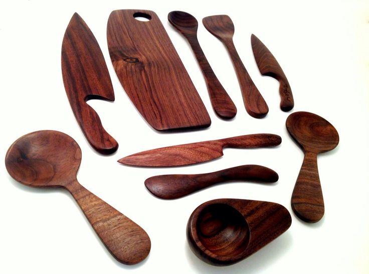 Full set of my Canadian Black Walnut kitchen utensils