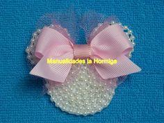 Caritas de minnie Mouse, en foamy y perlas para decorar tus accesorios