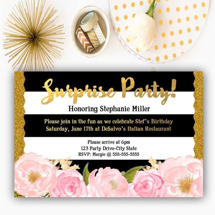 161 best invitations on ebay images on pinterest birthday surprise birthday party invitation filmwisefo