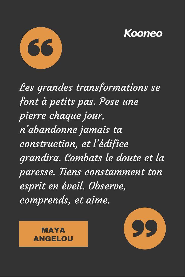[CITATIONS] Les grandes transformations se font à petits pas. Pose une pierre chaque jour, n'abandonne jamais ta construction, et l'édifice grandira. Combats le doute et la paresse. Tiens constamment ton esprit en éveil. Observe, comprends, et aime. DUGPA REMPOCHÉ #Ecommerce #Kooneo #Dugparempoche #Doute #Paresse #Eveil : www.kooneo.com