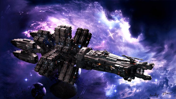 ORION mining ship fanart by Andrew Gikkio SciFi 3D