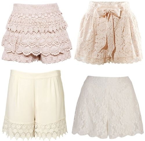 #Laced #scalloped: Anything Lace, Lacey Shorts, Lace Shorts, Lace Scallops