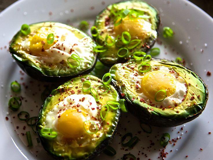 Baked Avocado with Egg | kaleandchocolate.com