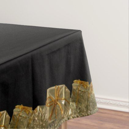 ChristmasTablecloth Black Holiday Tablecloths - kitchen gifts diy ideas decor special unique individual customized