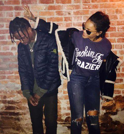 "rihannanavyhn: ""Rihanna x Travis Scott "" Rih Rih x La Flame."