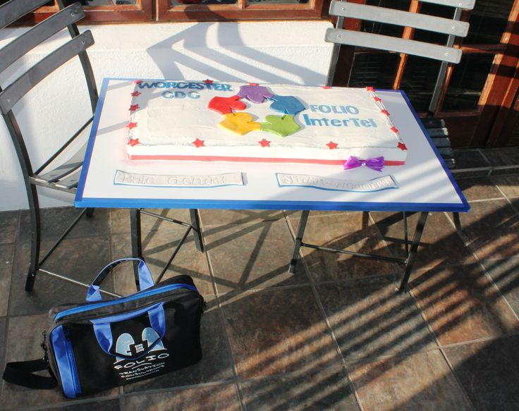 Bag and special cake for the winner of Folio InterTel's July 2015 competition.
