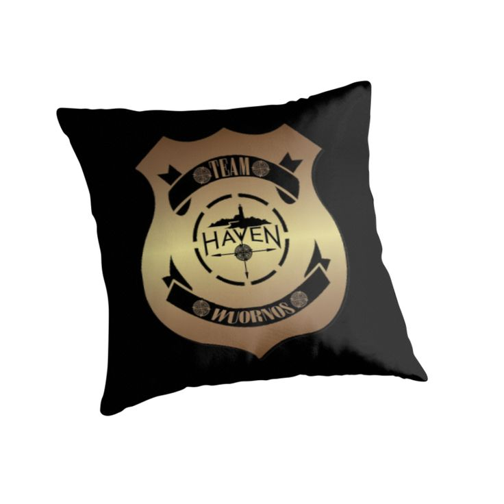 Haven Syfy Inspired Pillow |  Haven Team Wuornos Gold Police Badge Logo