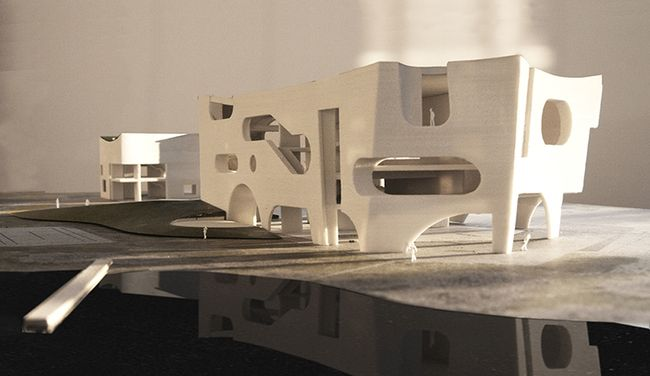 Steven Holl designs a pair of white concrete buildings for a new Cultural and Health Center in Shanghai | News | Archinect