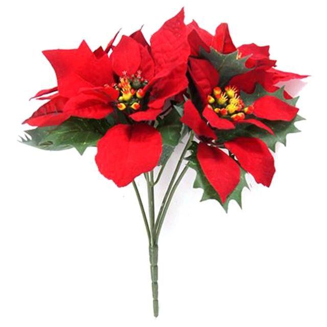 크리스마스꽃 조화 포인세티아 포인세치아 부쉬 크리스마스 꽃 조화 포인세티아