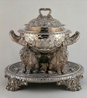 Soup Tureen, made by Rundell, Bridge and Rundell, 1816 (silver) British.