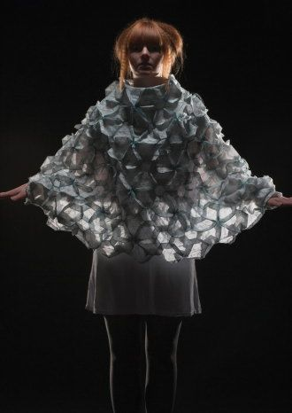 Origami Fashion Fabric by Anne O'Neill  University of West Wales