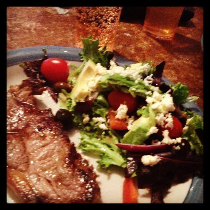 Steak and salad mmm