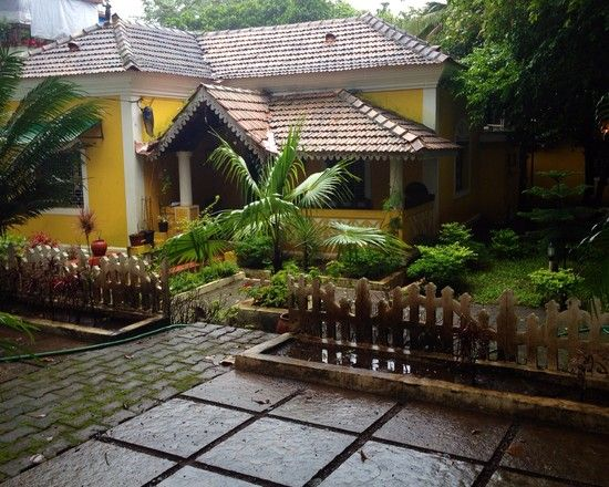 Garden Landscaping of a Traditional Indian residence.