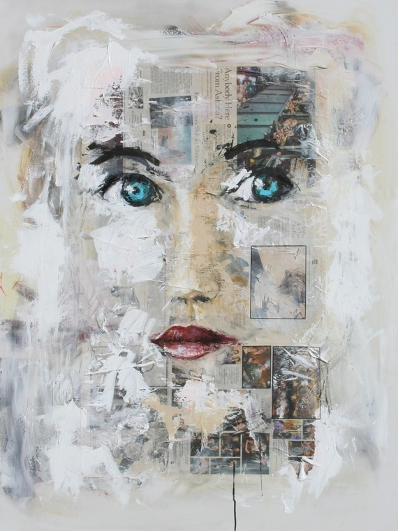 """""""journey of a beautiful woman"""" i am speechless! #collage #painting #art"""