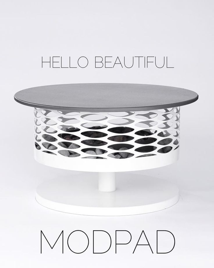 The new #Modpad turns your Solfire into a swanky table while protecting it from the elements. Made by Loll for #Modfire, this awesome piece is made from #recycled milk jugs. A multi-functional #modern #firepit.       lolldesigns.com