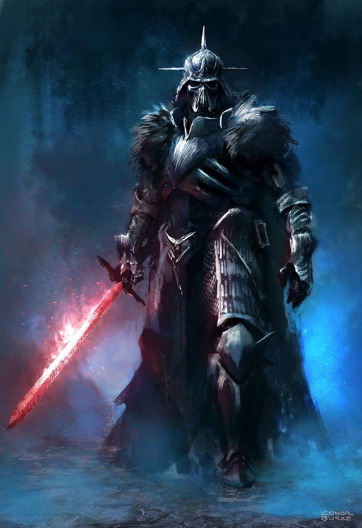 Dark Fantasy Lord Vader, Conor Burke on ArtStation at http://www.artstation.com/artwork/dark-fantasy-lord-vader