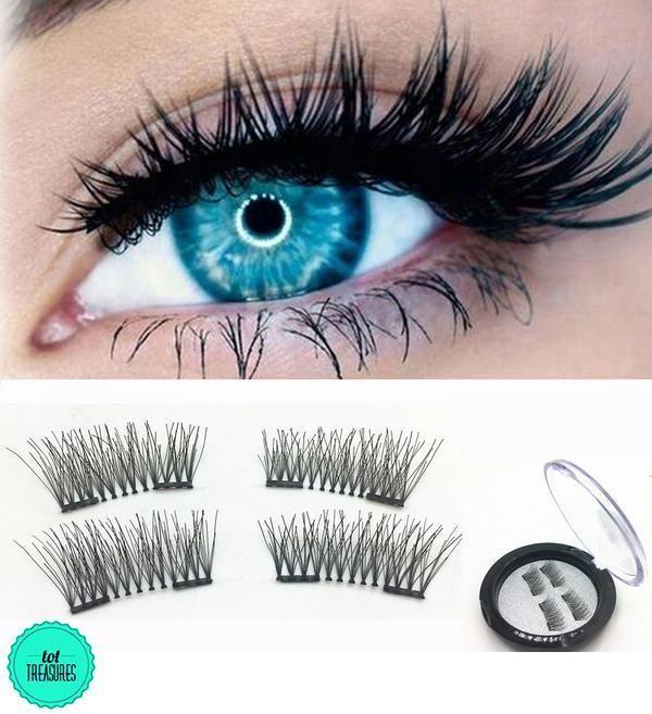 5a736890953 2019' 3D Magnetic Eyelashes | eye product | Natural false eyelashes ...