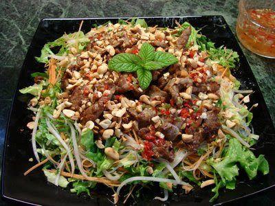 Bun Bo Xao (Vietnamese beef and glass noodle salad)