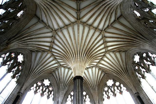 Chapter House ceiling, Wells Cathedral, England