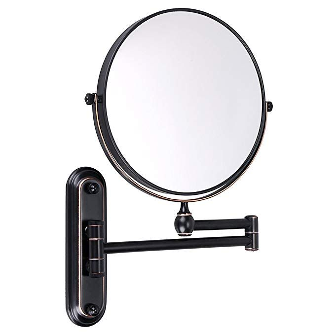 Sumnacon 8 Inch Double Sided Swivel Wall Mount Vanity Mirror 10x Magnification 360a Swivel 12 Extension Two Side Ret Wall Mounted Vanity Vanity Mirror Mirror